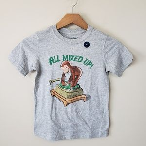 "🔆NWT Gap Curious George ""All Mixed Up"" Tee"
